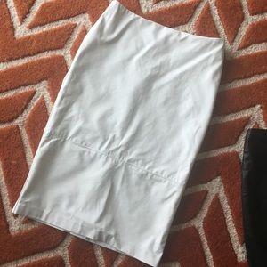 White leather skirt